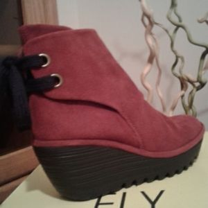 FLY LONDON-'YAMA' /Wedge Ankle Boots